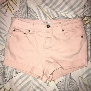 Forever 21 baby pink shorts